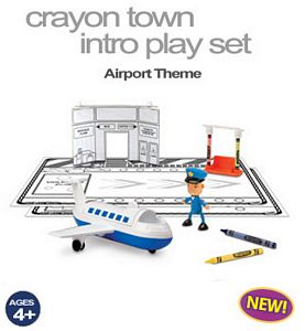 Crayon Town Intro Play Set- Airport Theme