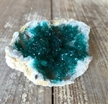 Teal Green Geode Halve Colored Dyed Druzy Enhanced 2""