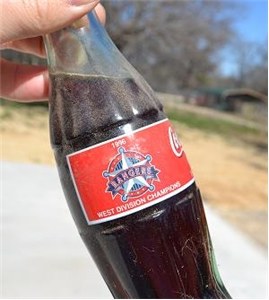 1996 Texas Rangers West Division Champions Collectors Bottle