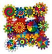 Georello Kaleido Gears Quercetti - simple mechanics - 52 Pices