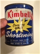Vintage Kimbell Shortening Tin Metal Can Sherman Texas Tx Vegetable Oil