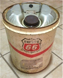 Vintage Phillips 66 Petroleum 5 Gallon Gas / Oil Metal Can Bartlesville Oklahoma
