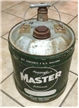 Vintage Master Lubricants 5 Gallon Oil / Gas Can Kincheloe Dallas Texas