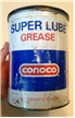 Vintage Conoco Oil Metal Can Super Lube Grease Houston Texas Tx 79