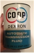 Vintage Coop Dexron Automatic Transmission Fluid Metal Oil Can Quart
