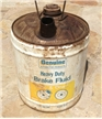 Vintage Genuine Automotive Brake Fluid Disc & Drum Oil Can Bucket 5 Gallon