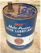 Vintage Gulf Multi-Purpose Gear Lubricant Oil Can Bucket 5 Gallon Pittsburg PA