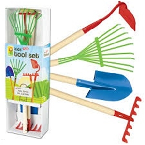 Kids Large Gardening Tool Boxed Set   Hardwood, Kids Garden Toys, Child Gardening  Set