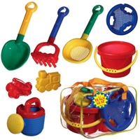 Kids Beach Set in a Bag - beach gear - beach bucket shovel