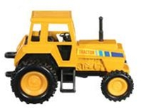 Metal Toy Tractors >> 4 Metal Toy Pull Back Tractor Yellow