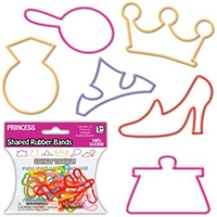 Princess Silly Shaped Rubber Bands