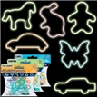 Glow Silly Shaped Rubber Bands