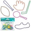 Free Gift - Sports Silly Shaped Rubber Bands - 12 pack