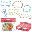 Animal Silly Shaped Bands - 12 Pack