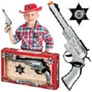 Kids The Sheriff Badge and Gun Shooter Set