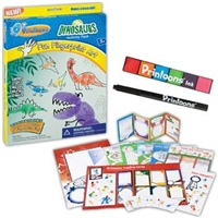 Printoons Dinosaurs, Fingerprint Art, Kids Art Sets, Dinosaur Art Set, Toysmith Kit, Creative Art