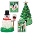 crystal kit, crystal kits, holiday crystal kits, snowman toy, Holiday toy, crystal snowman