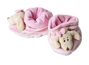 Baby Rattle Shoes - Pink