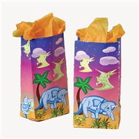 Dinosaur Gift Bags - Dozen, dinosaur party favors, dinosaur birthday party supplies