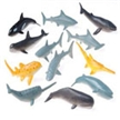 Mini Shark and Whale Models-12 pack