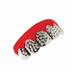Silver Bling Teeth Pack of 12