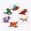 Dino Temporary Tattoos - 6 Pack | Dinosau rparty favors | Dinosaur birthday supplies