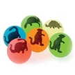 Dino Silhouette Bouncy Balls - 12 Pack , Dinosaur balls, dinosaur birthday supplies, party favors
