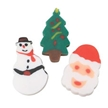 Holiday Stocking Stuffers - 144 Mini Christmas Erasers