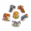 Set Of 72 Assorted Safari Wild Animal Theme Puffy Stickers