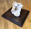 Moroccan Cut Geode Crystals on Wood Base 4""