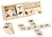 Wooden Dinosaur Dominoes, kids games, kids dinosaur toys, kids dino