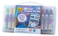 Dinosaur Travel Art Kit, kids art set, travel fun for kids, kid drawing kit