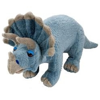 "Realistic 12"" Triceratops Dinosaur Stuffed Animal"