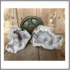 cut moroccan geodes crystals pairs wedding decor