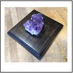 Geodes | Amethyst on Metal | Wood Base