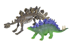Stegosaurus Figurine with Skeleton Replica