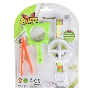 Bugs World Watch Set - Bug Holder Watch, Tweezers, Magnifying Glass