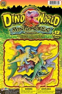Dinosaur Miniatures Pack of 12